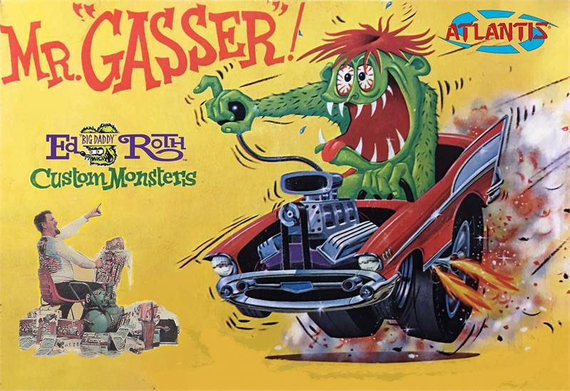 Mr. Gasser Ed Roth 1963 Revell Re-Issue Model Kit by Atlantis