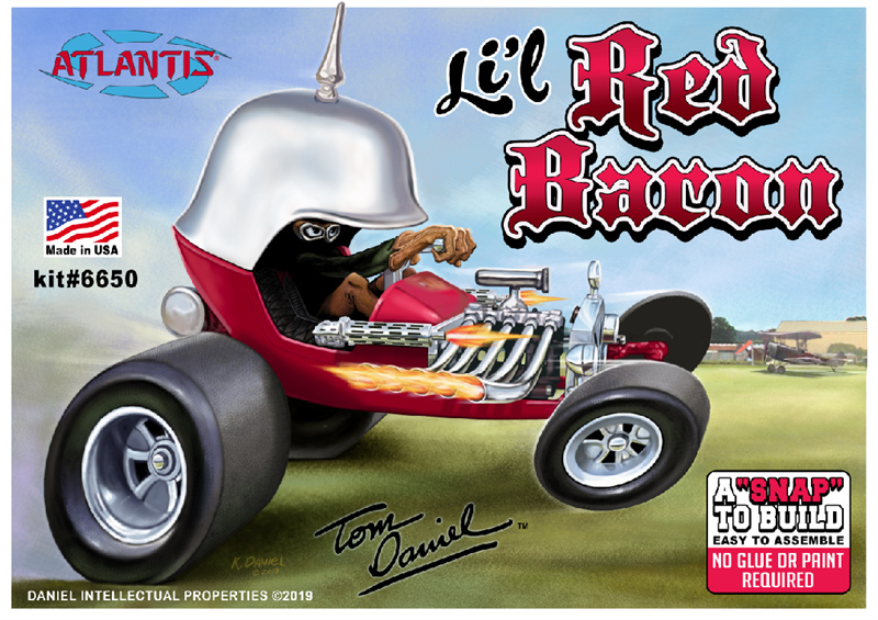 Li'l Red Baron Tom Daniels 1972 Monogram Re-Issue Model Kit by Atlantis