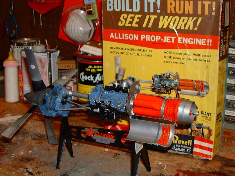 Allison Turbo Prop Engine Revell Re-Issue Model Kit by Atlantis
