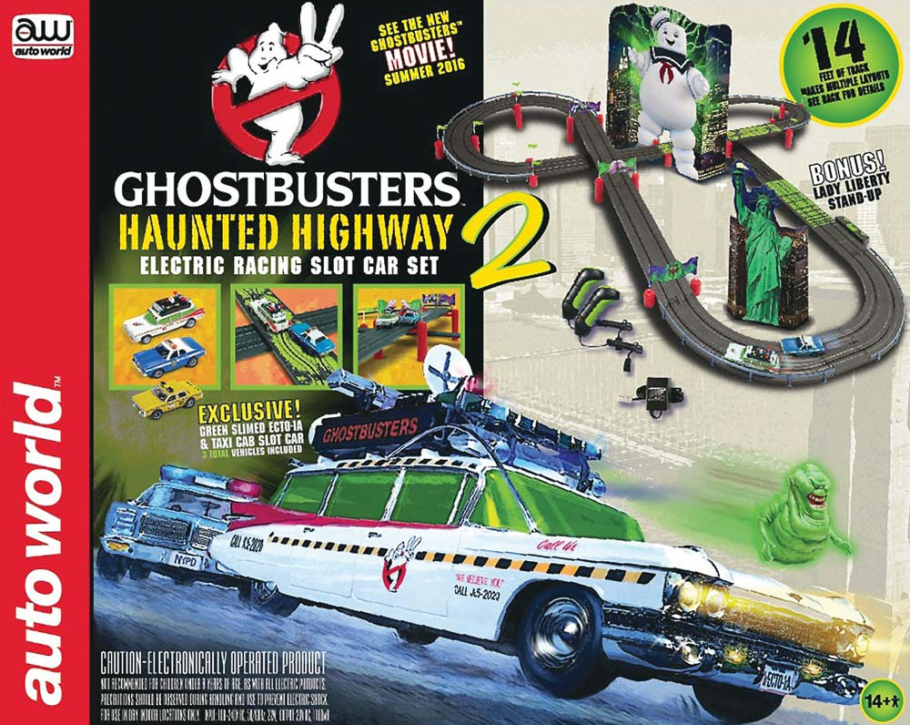 Ghostbusters 2 Haunted Highway Slot Car Set