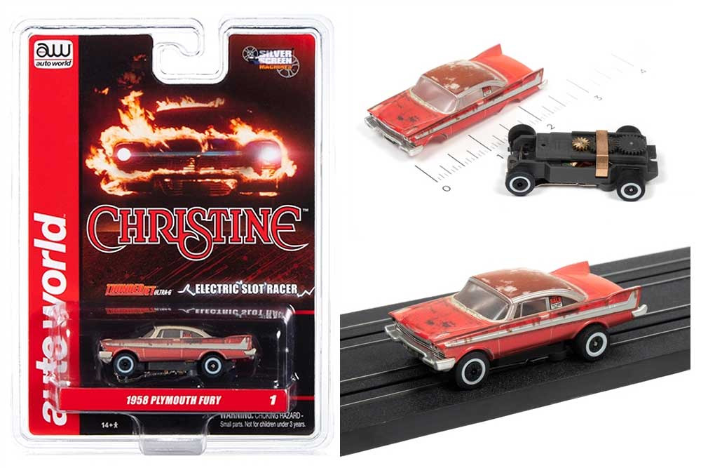 Christine 1958 Plymouth Fury For Sale/Dirty HO Scale Slot Car