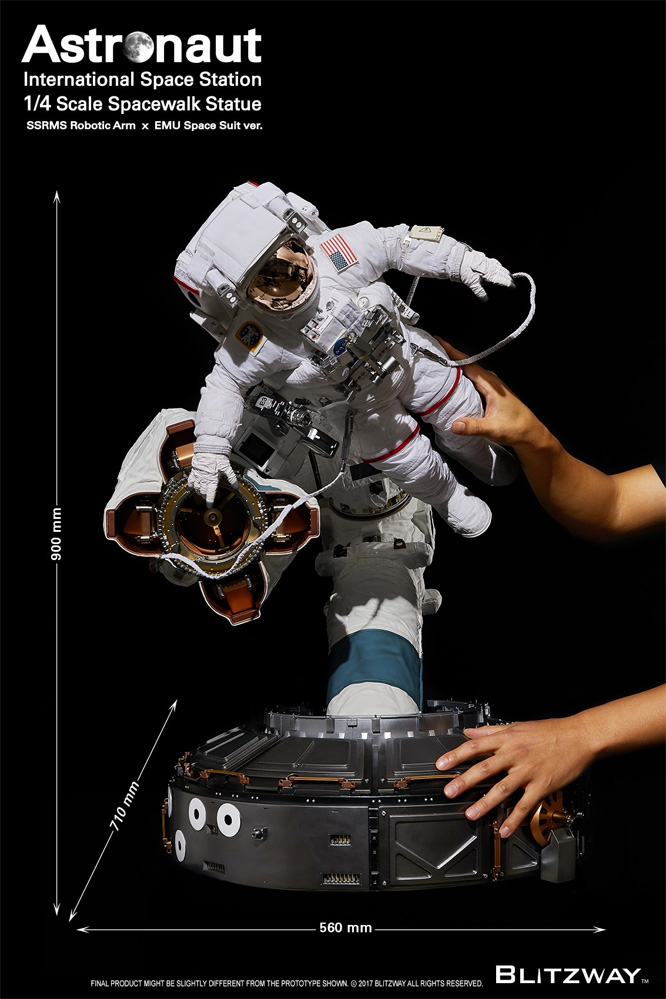 Astronaut International Space Station 1/4 Scale Spacewalk Statue by Blitzway The Real Series NASA