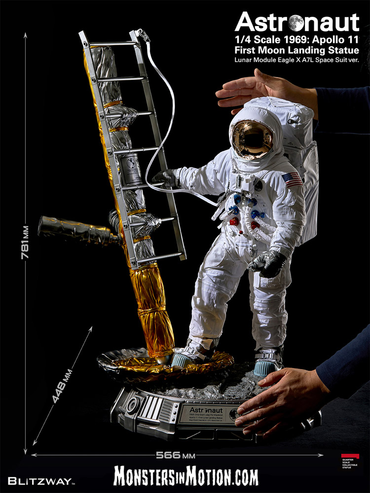 Astronaut 1969 Apollo 11 First Moon Landing LM-5 A7L 1/4 Scale Statue by Blitzway