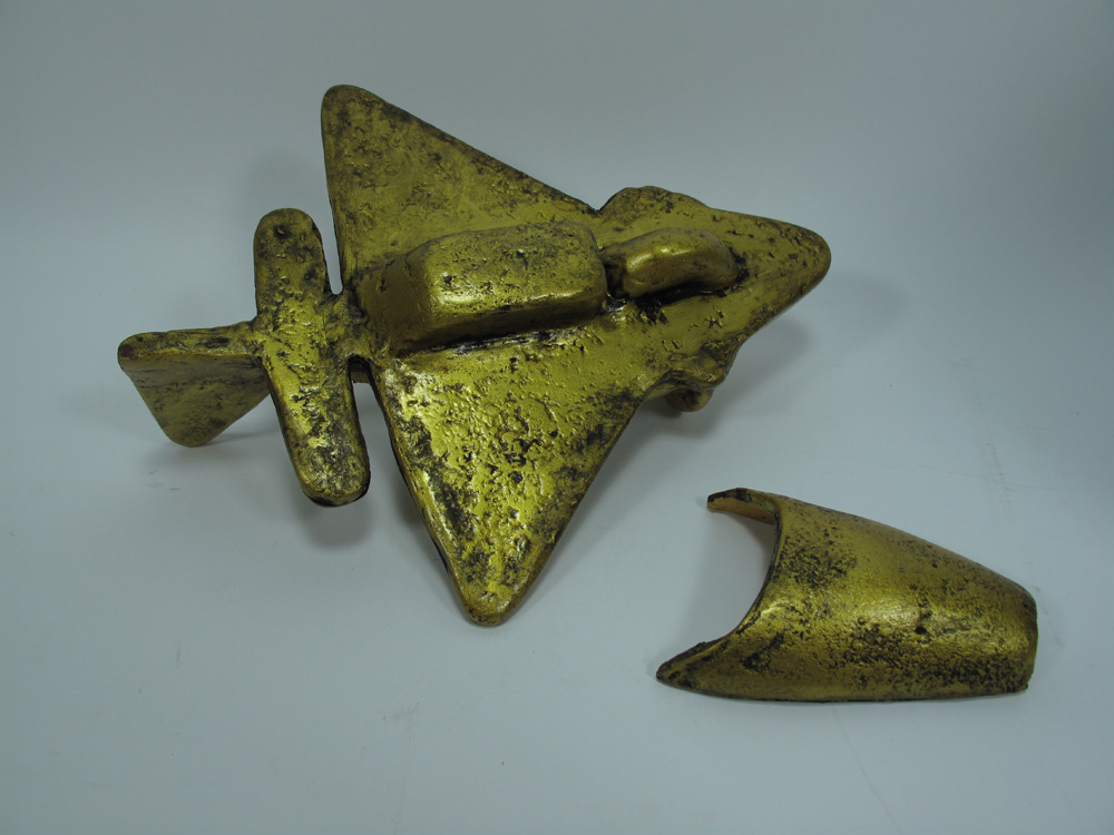 Ancient Aliens Quimbaya Tolima Airplane Artifact Replica - Click Image to Close
