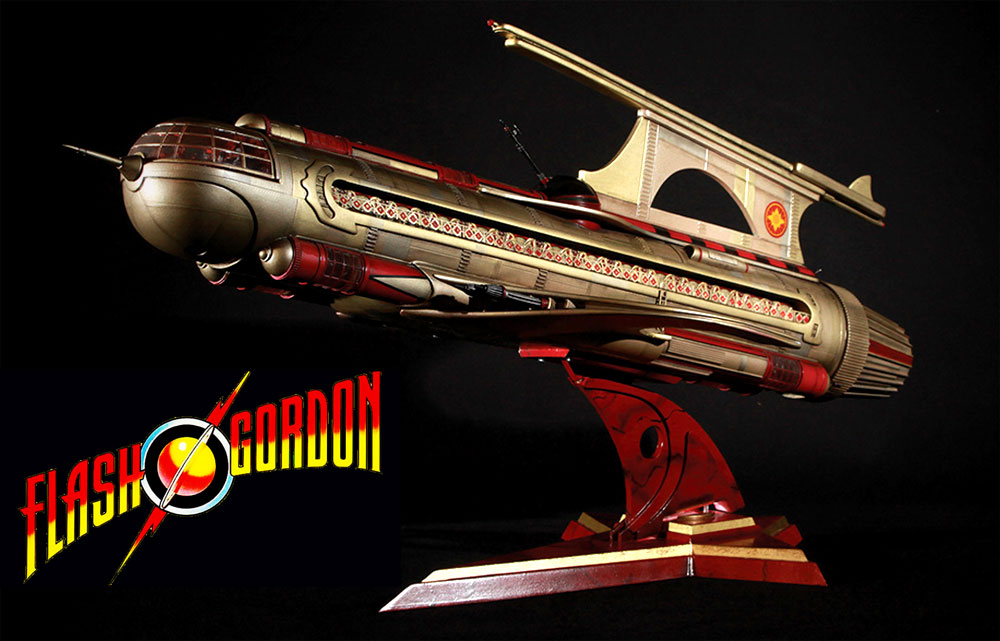 "Flash Gordon 1980 War Rocket Ajax 31"" Long Replica"