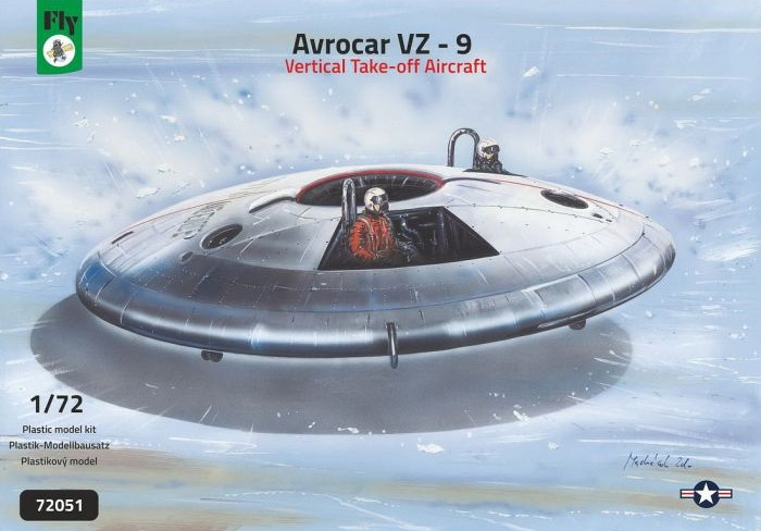 Avrocar VZ-9 VTOL A/C 1/72 Scale Model Kit