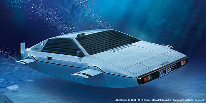 James Bond 007 Spy Who Loved Me Lotus Esprit S1 Submarine Car 1/24 Scale Model Kit