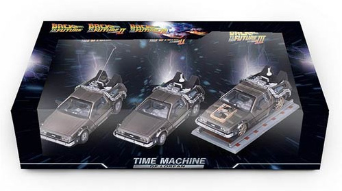 Back To The Future DeLorean Time Machine 1:43 Scale Die Cast 3-Pack
