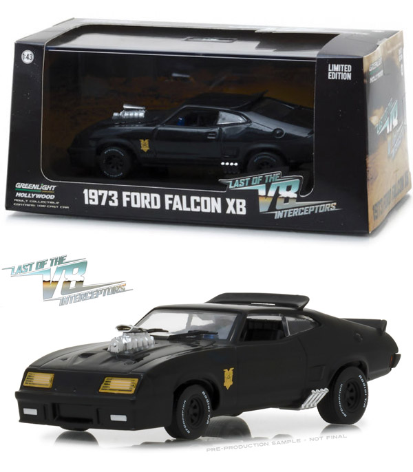 Last Of The V8 Interceptors Ford Falcon XB 1/43 Scale Diecast Replica by Greenlight