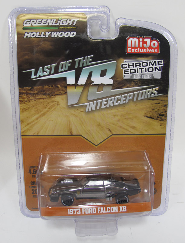Last Of The V8 Interceptors Ford Falcon XB 1/64 Scale Limited Black Chrome Edition Diecast Replica