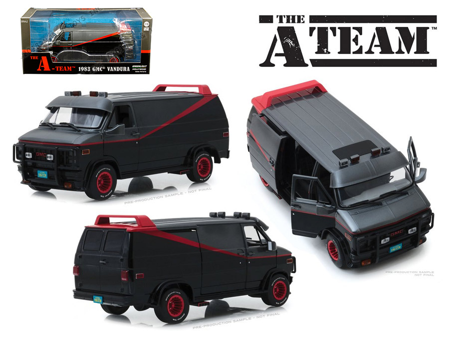 A-Team 1983 TV Series GMC Vandura 1/18 Scale Diecast Replica Mr. T's Van