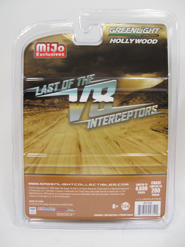 Last Of The V8 Interceptors Ford Falcon XB 1/64 Scale with Mad Max Figure