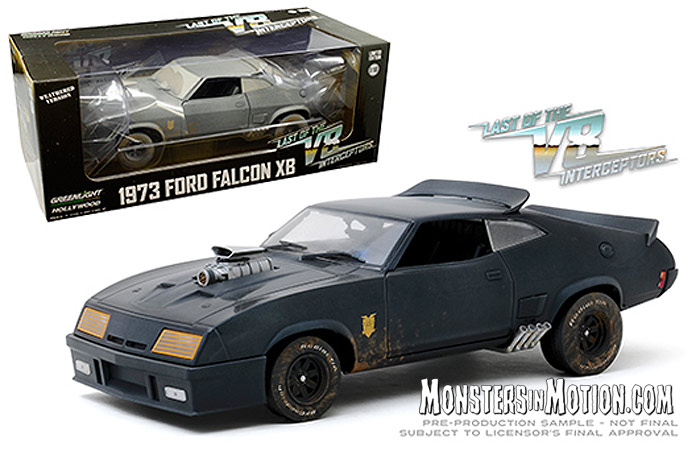 Last Of The V8 Interceptors Weathered Ford Falcon XB 1/18 Scale Diecast Replica