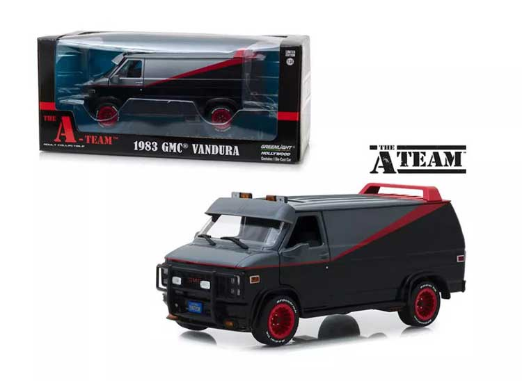 A-Team 1983 TV Series GMC Vandura 1/24 Scale Diecast Replica Mr. T's Van