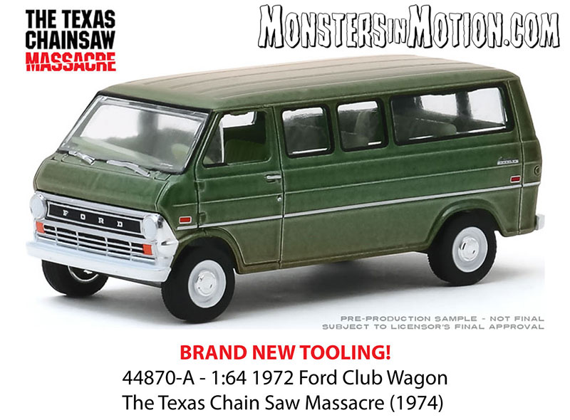 Texas Chainsaw Massacre 1974 Ford Van 1/64 Scale Diecast Replica