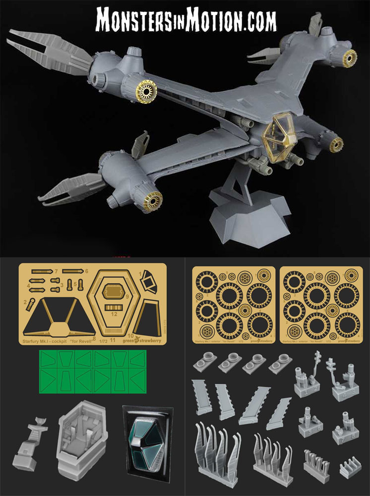 Babylon 5 Starfury MK 1 1/72 Scale Model Kit Deluxe Upgrade Detail Set for Revell