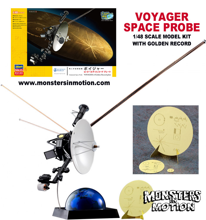 Voyager Space Probe 1/48 Scale Model Kit with Golden Record