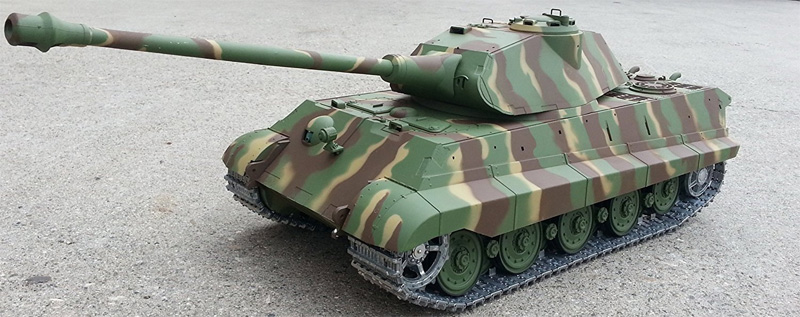 German King Tiger Porsche Turret Tank 1/16 Scale RC Air Soft Battle Tank Smoke & Sound (Upgrade Version w/ Metal Gear & Tracks) - Click Image to Close