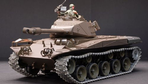 US M41A3 Walker Bulldog 1/6 Scale Air Soft RC Battle Tank Smoke & Sound (Upgrade Version w/ Metal Gear & Tracks)