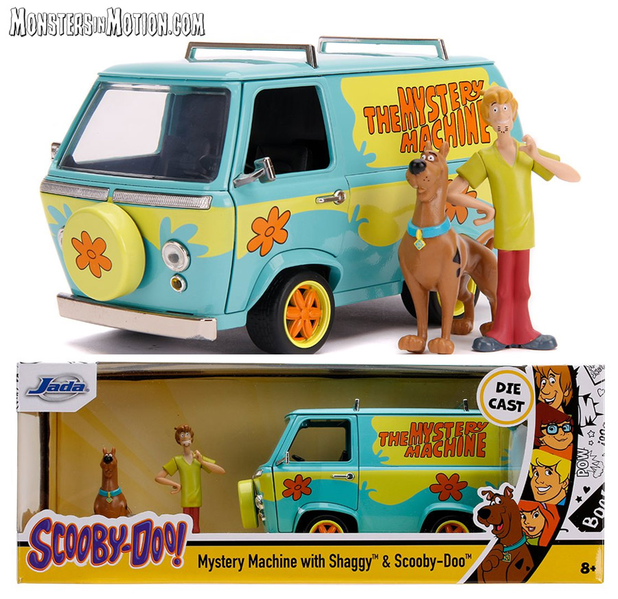 Scooby-Doo Mystery Machine 1/24 Scale Diecast Replica with Figures