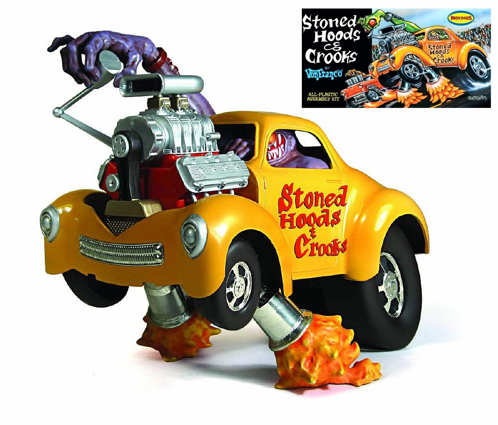 Stoned Hoods & Crooks 1/25 Scale Hot Rod Model Kit by VonFranco