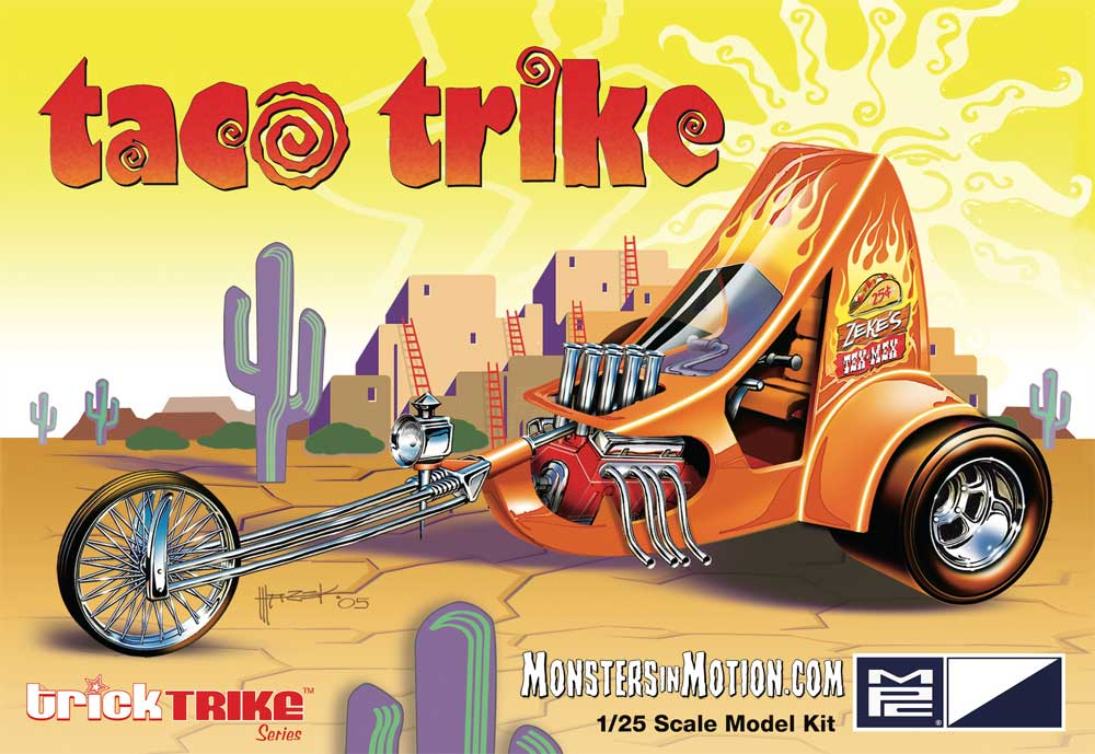 Taco Trike 1/25 Scale Model Kit Trick Trikes Series by MPC