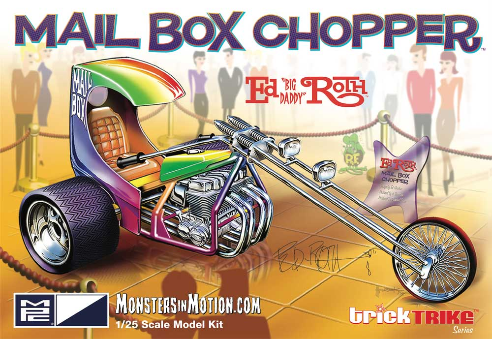 Ed Roth's Mail Box Chopper 1/25 Scale Model Kit Trick Trike Series by MPC