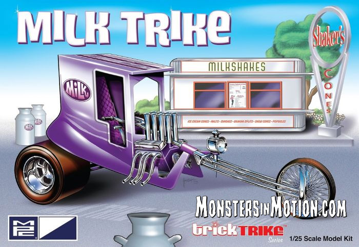 Milk Trike 1/25 Scale Model Kit Trick Trike Series by MPC