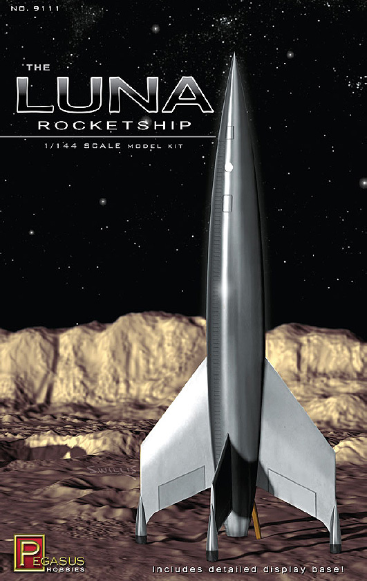 Destination Moon Luna Rocketship 1/144 Scale Model Kit
