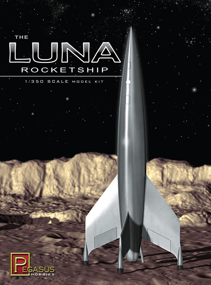 Destination Moon Luna Rocketship 1/350 Scale Model Kit