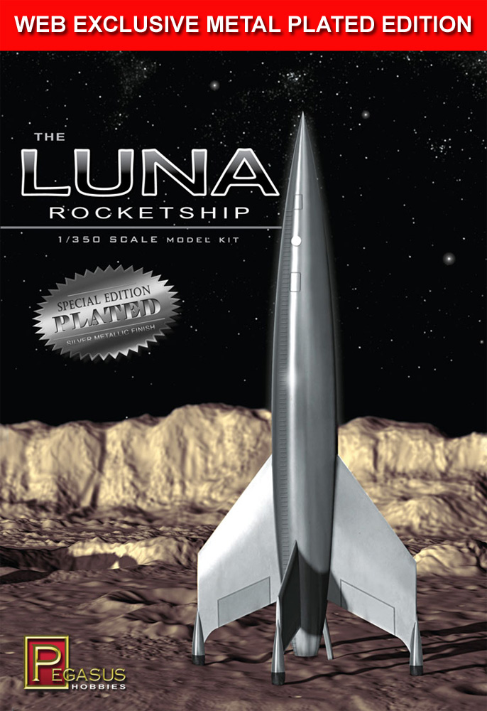 Destination Moon Luna Rocketship 1/350 Scale Model Kit SPECIAL METAL PLATED EDITION