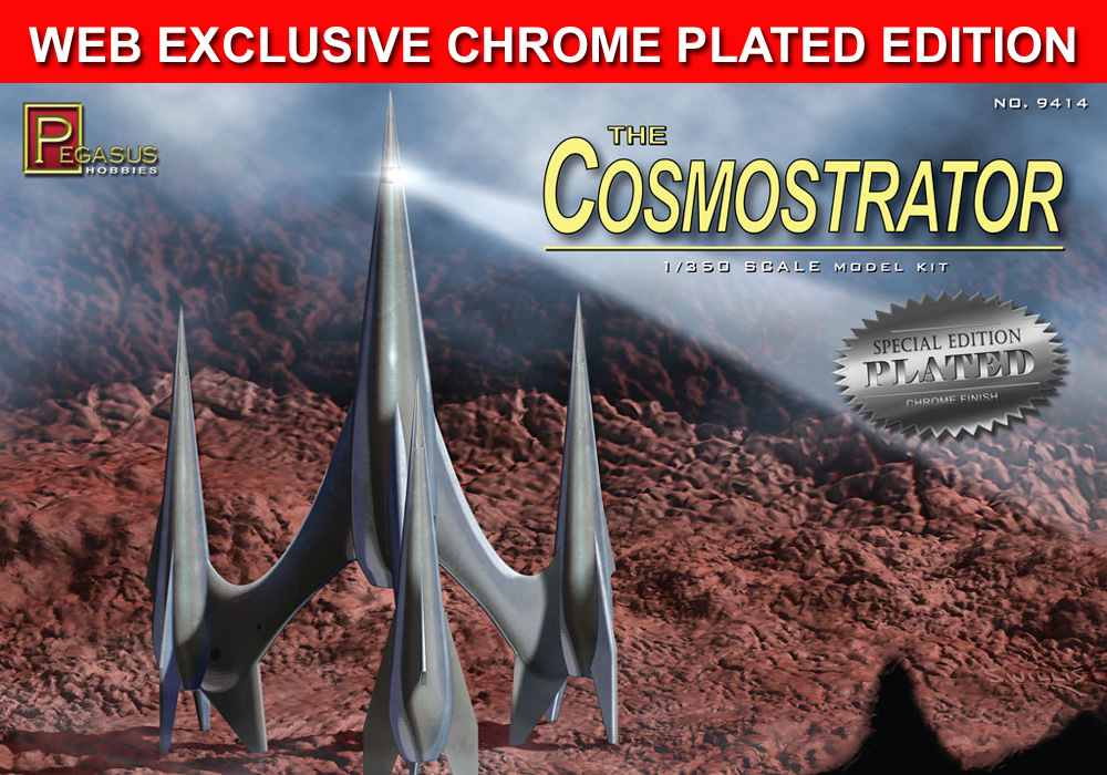 First Spaceship on Venus Cosmostrator 1/350 Scale Model Kit SPECIAL CHROME PLATED EDITION