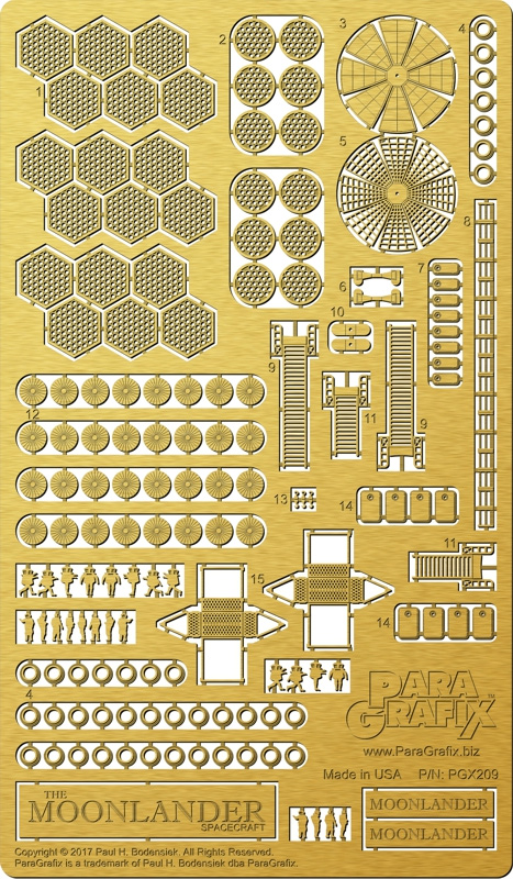 Moonlander 1/350 Scale Model Kit Photoetch Detail Set
