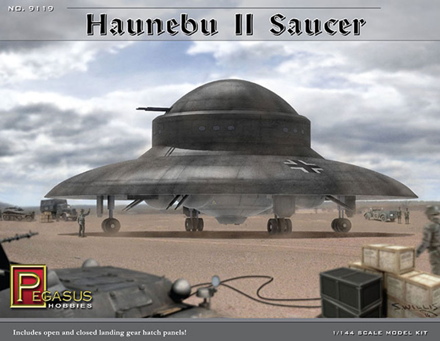 Haunebu II German WWII UFO Fu Fighter 1/144 Scale Model Kit
