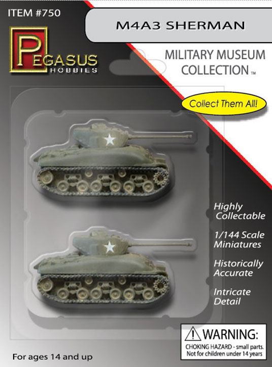 Sherman Tank M4A3 1/144 Scale Minature 2-Pack