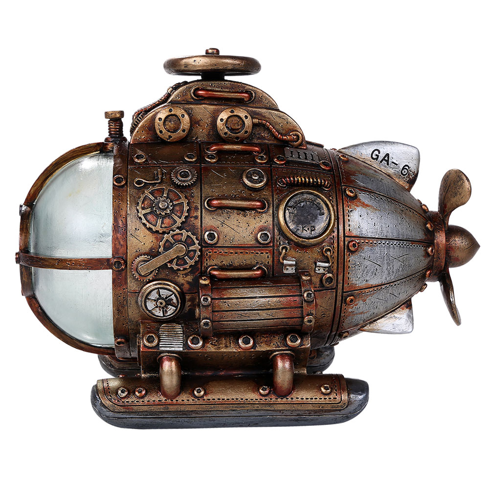Steampunk Submarine with LED Lights