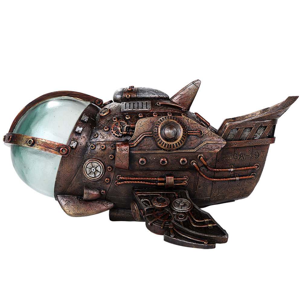 Steampunk Spaceship with LED Lights