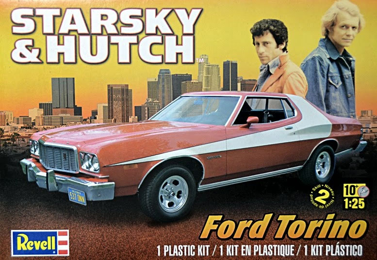 Starsky & Hutch Ford Torino 1:25 NEW TOOLING! Plastic Model Kit