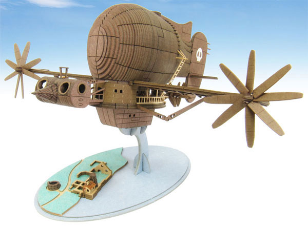 Laputa Castle in the Sky Tigermoth 1/300 Scale Paper Model