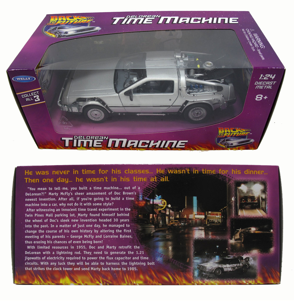 Back to the Future Part 1 DeLorean Time Machine 1/24 Scale Die Cast Replica
