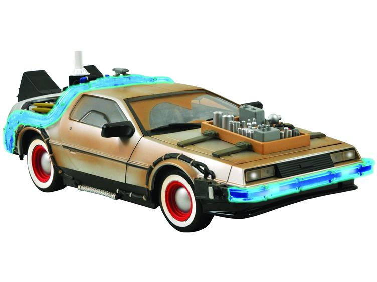 Back to the Future III 1/18 Scale DeLorean Time Machine with Lights and Sound
