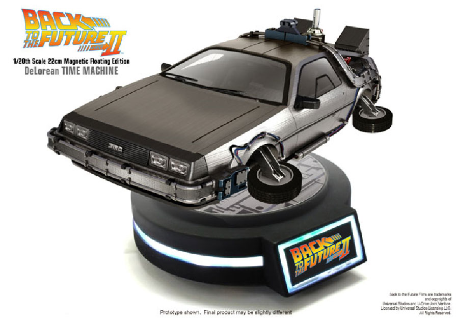 Back to the Future II Magnetic Floating DeLorean Time Machine