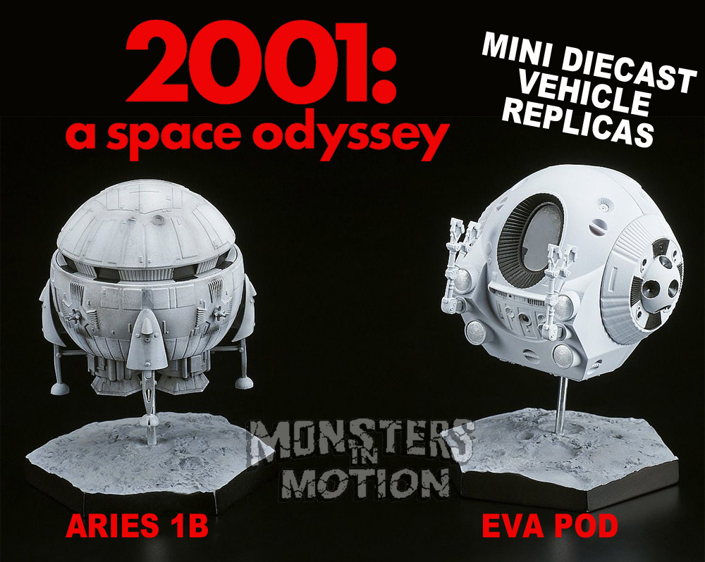 2001: A Space Odyssey Aries 1B & Eva Pod Vehicle Replicas