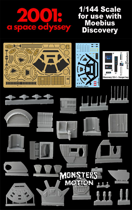 2001: A Space Odyssey 1/144 Scale Hangar Bay Resin & Photoetch Upgrade Set for Moebius Discovery XD-1 Model Kit