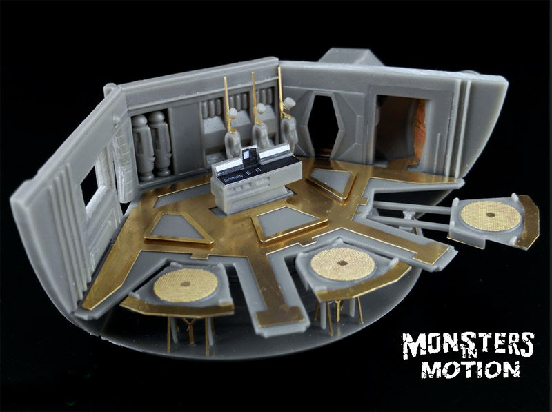 2001: A Space Odyssey 1/144 Scale Hanger Bay Resin & Photoetch Upgrade Set for Moebius Discovery XD-1 Model Kit