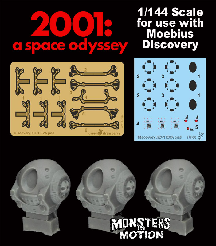 2001: A Space Odyssey 1/144 Scale Ultimate Upgrade Set 3-Pack Photoetch & Resin for+ Moebius Discovery XD-1 Model Kit
