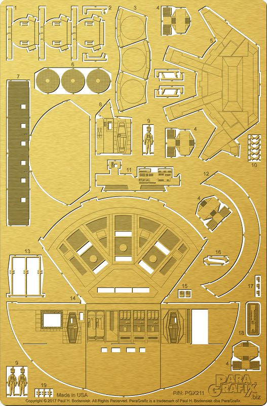2001: A Space Odyssey Discovery 1:144 Scale Pod Bay Photoetch Detail Set for Moebius Model Kit