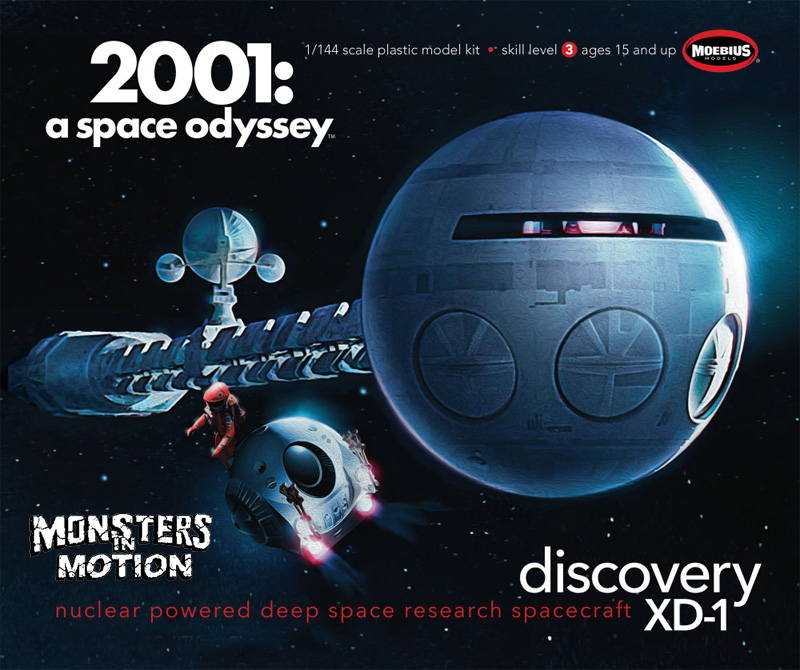 2001: A Space Odyssey Discovery 1/144 Scale Model Kit Moebius
