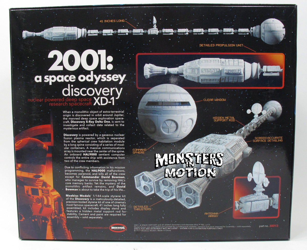 2001: A Space Odyssey Discovery 1:144 Scale Model Kit Moebius