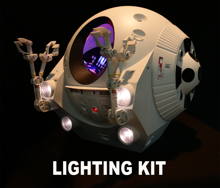 2001: A Space Odyssey EVA Pod 1/8 Scale Lighting Detail Kit for Moebius Model Kit